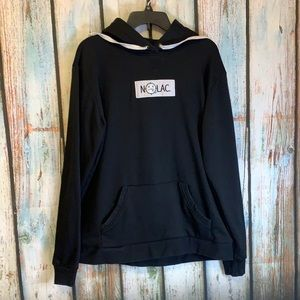No Lac Black Hoodie with Kangaroo Pouch XL